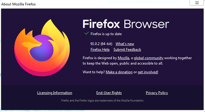 Make sure that your browser is always up to date